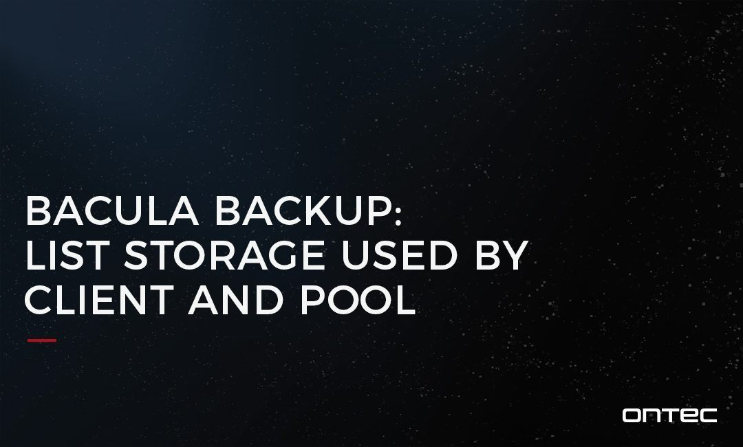 BACULA BACKUP: LIST STORAGE USED BY CLIENT AND POOL